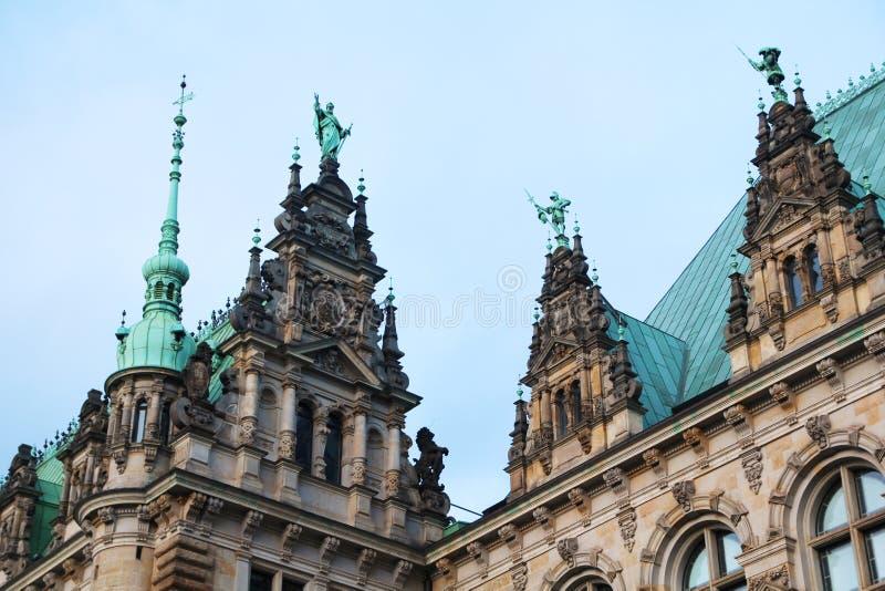 Hamburg City Hall or Rathaus, Germany royalty free stock photos