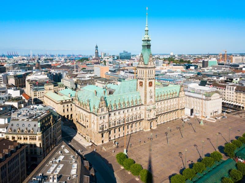 Hamburg City Hall or Rathaus. Hamburg City Hall or Hamburger Rathaus is the seat of local government of Hamburg, Germany royalty free stock image