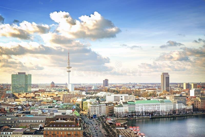 Hamburg cityscape stock photos