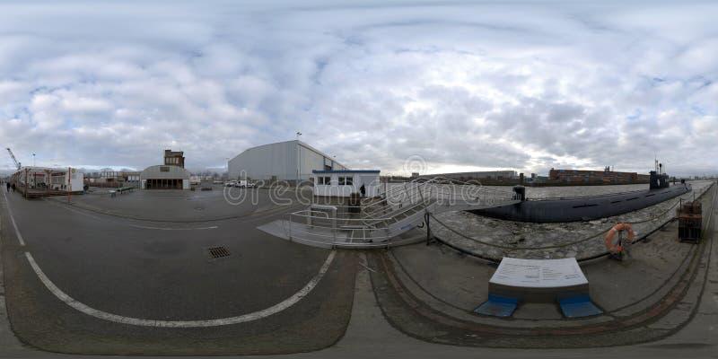 Hamburg 360 degree panorama street view stock image