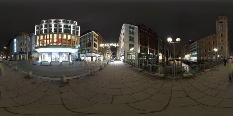 Hamburg 360 degree panorama street view stock images