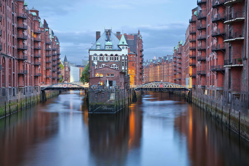 Hamburg, Duitsland. stock foto's