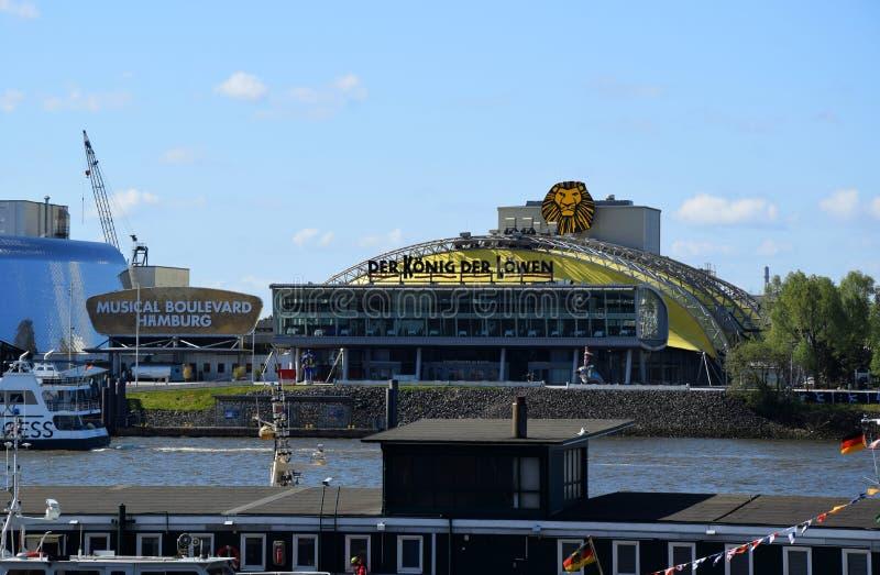Hamburg, Duitsland - Disneys Lion King Musical stock afbeeldingen