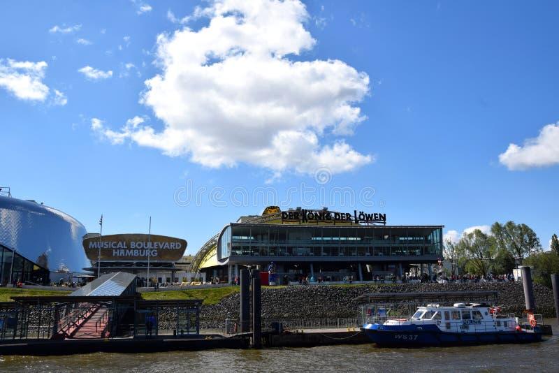 Hamburg, Duitsland - Lion King Musical van Disney? royalty-vrije stock foto