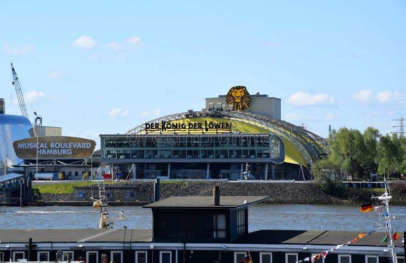 Hamburg, Duitsland - Lion King Musical van Disney? stock afbeeldingen