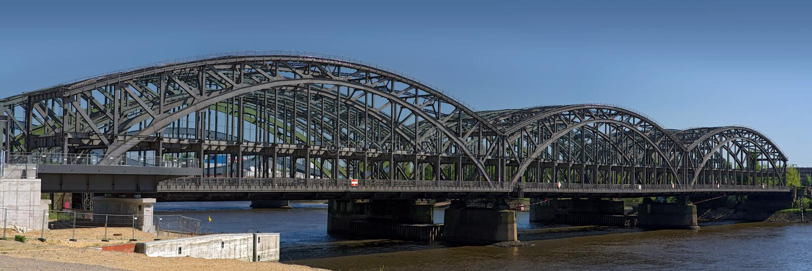 Hamburg Elbe bridges royalty free stock images