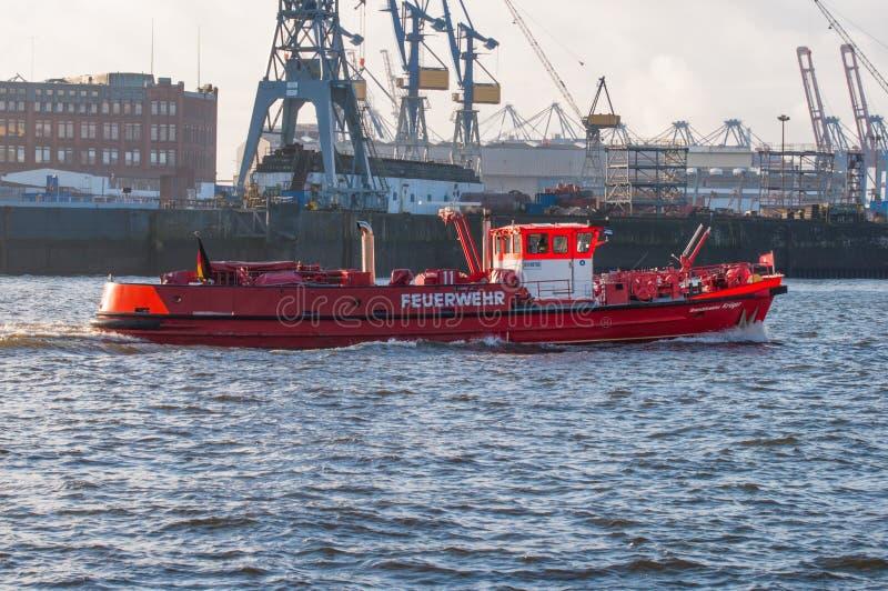 Hamburg-Feuerbekämpfungsboot stockfoto