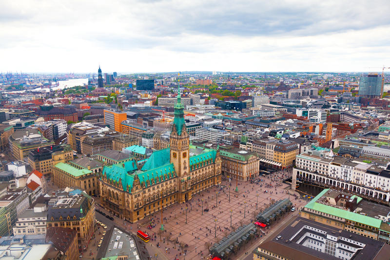 Download Hamburg, Germany stock photo. Image of cityhall, historic - 17562054