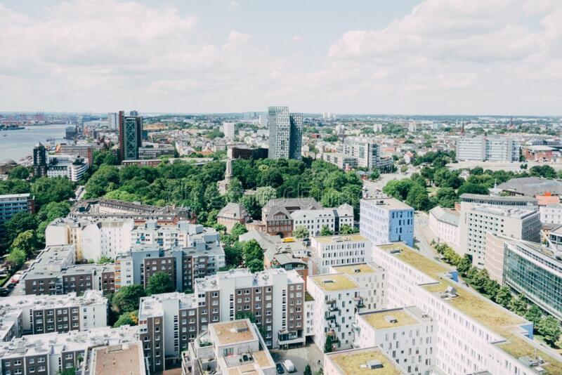 Hamburg, Germany, From Above Free Public Domain Cc0 Image