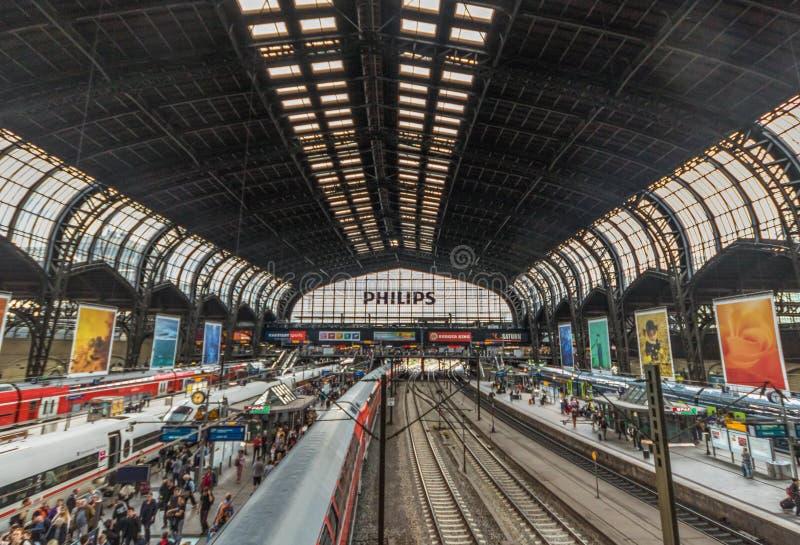 The Hamburg Hauptbahnhof, Hamburg. Germany royalty free stock photos