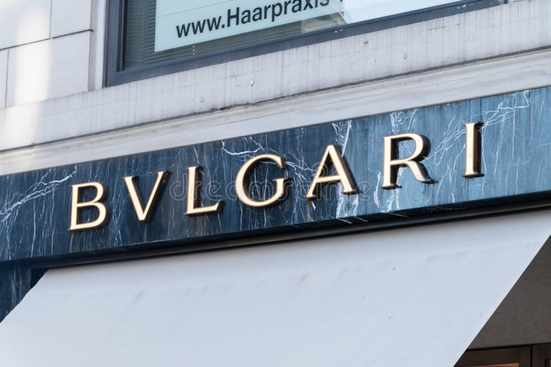 Logo and sign of Bvlgari royalty free stock images