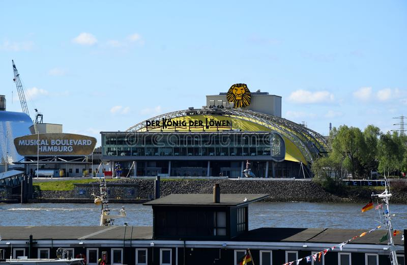 Hamburg, Germany -  Disneys Lion King Musical. Hamburg, Germany - May 12, 2019: Visiting Disneys Lion King Musical stock images