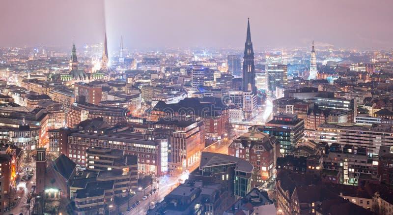 Hamburg, Germany. Night view of Hamburg, Germany stock image