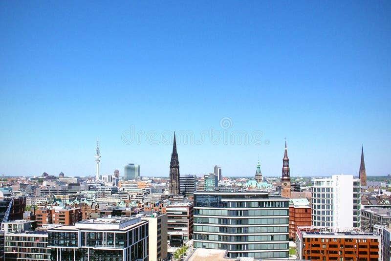 Hamburg, Germany skyline stock images