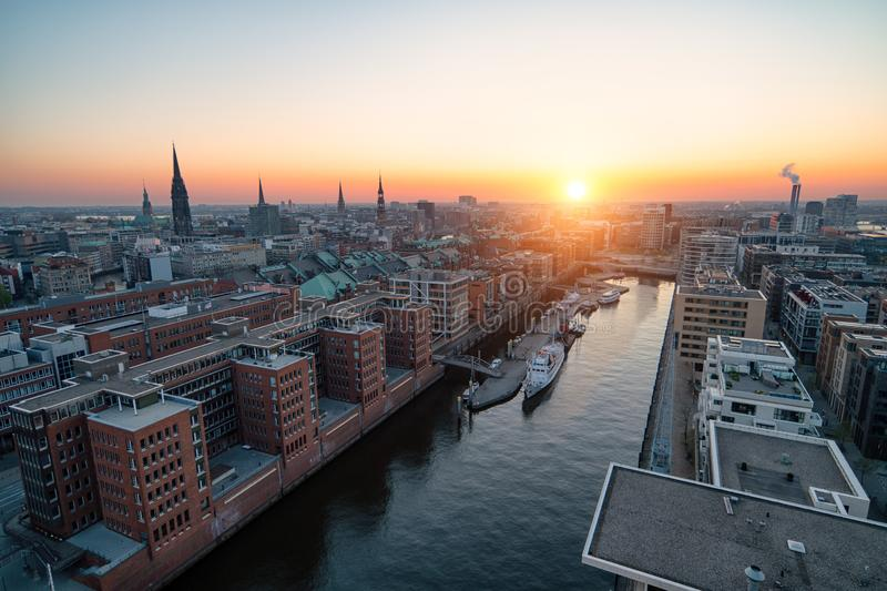 Hamburg Hafencity royalty free stock photo
