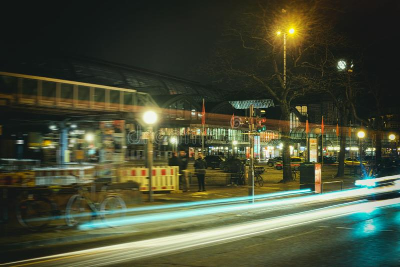 Hamburg, hafencity, Zeitbelichtung, Birne, Laser, Architektur, Zeitbelichtung, Autos, Laser lizenzfreie stockfotografie