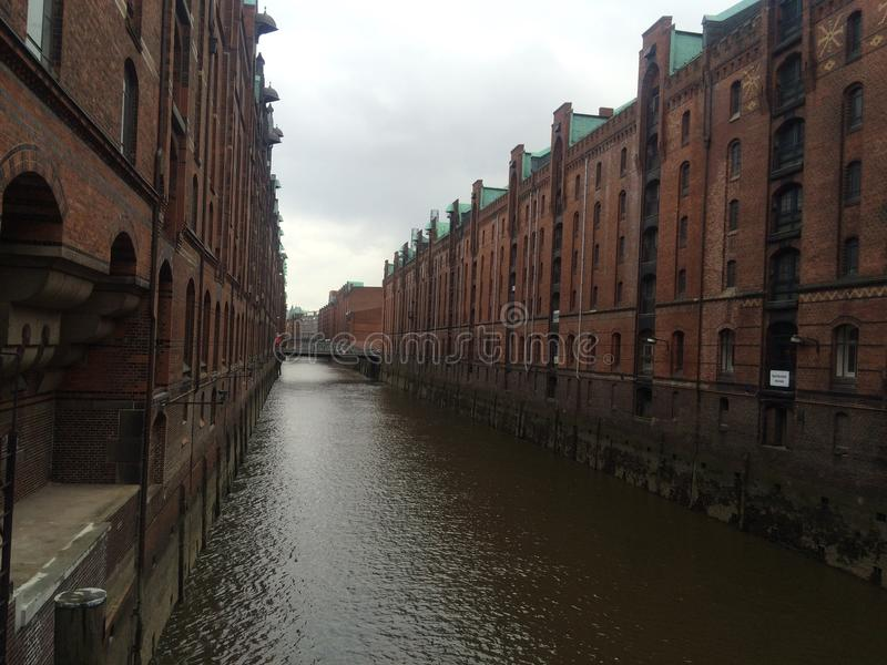 Hamburg Hafenstadt arkivfoto