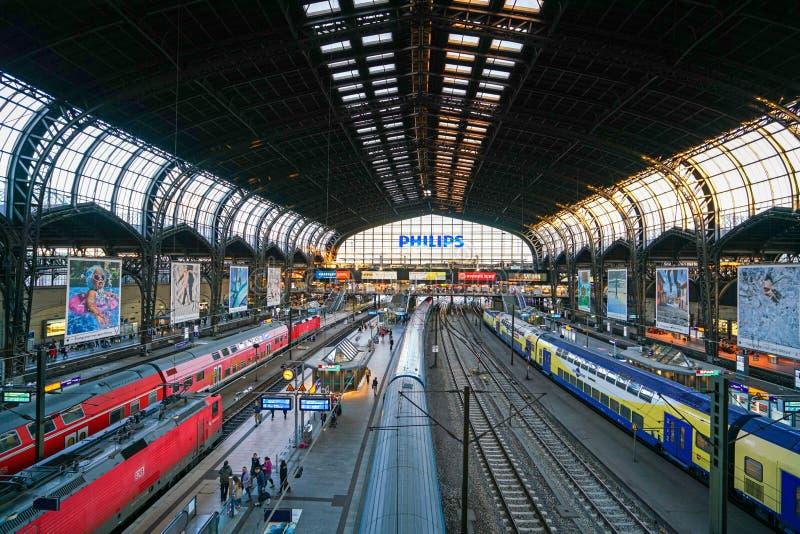 Hamburg Hauptbahnhof railway station royalty free stock images