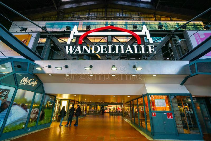 Hamburg Hauptbahnhof railway station royalty free stock photography