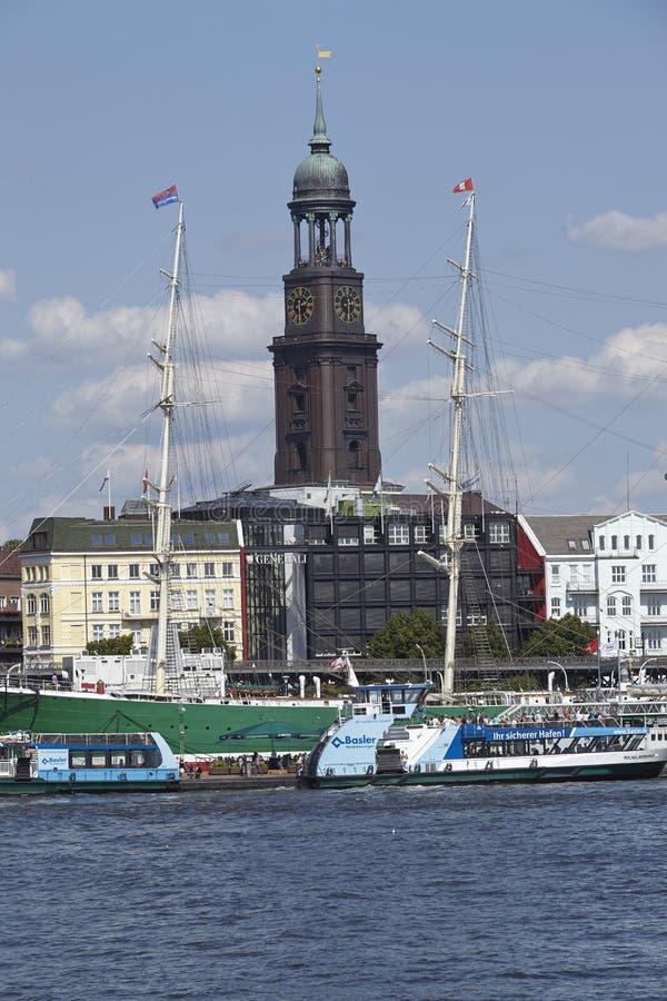 Hamburg - Kirche St Michaelis stockbilder
