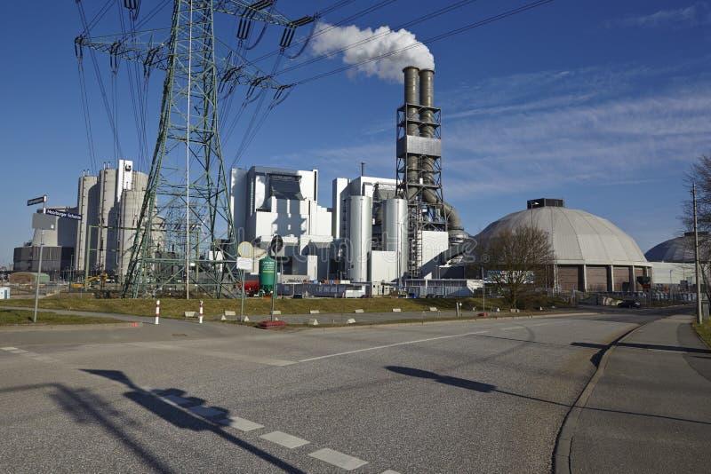 Hamburg - Kohleenergieanlage Moorburg stockfotografie