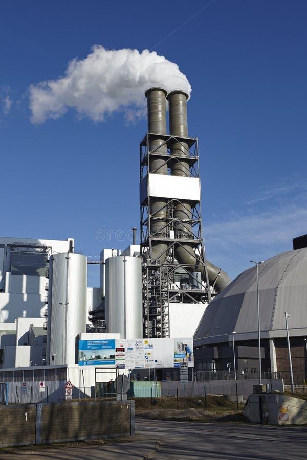 Hamburg - Kohleenergieanlage Moorburg stockbild