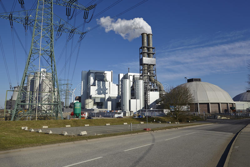 Hamburg - Kohleenergieanlage Moorburg lizenzfreies stockbild