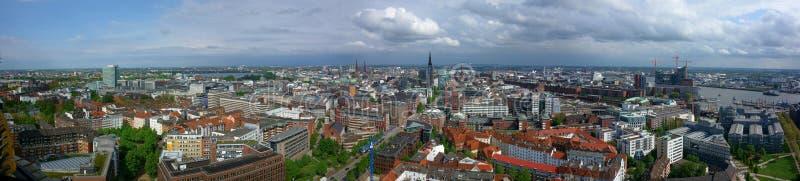 Hamburg panorama arkivbild