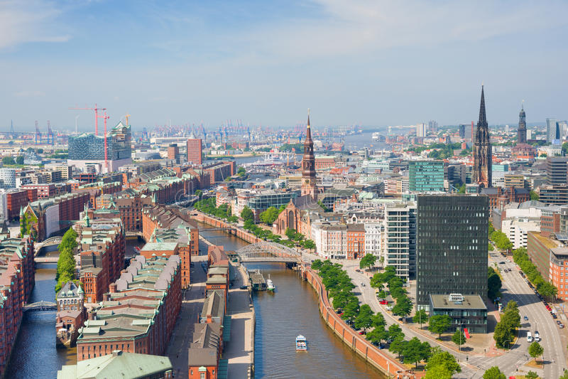 Hamburg and port stock images