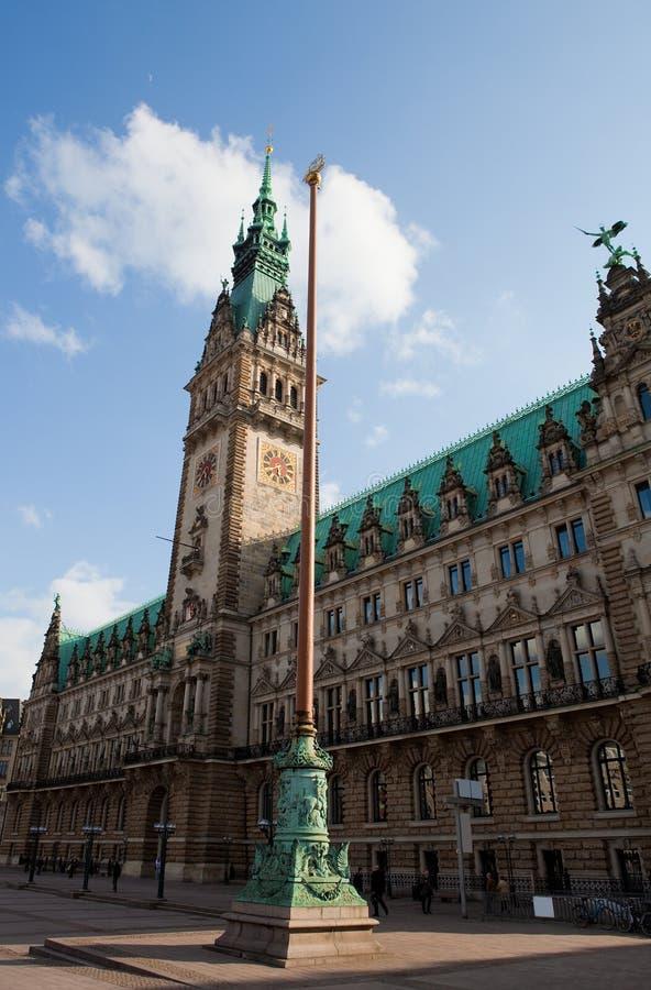 Hamburg Rathaus stock fotografie