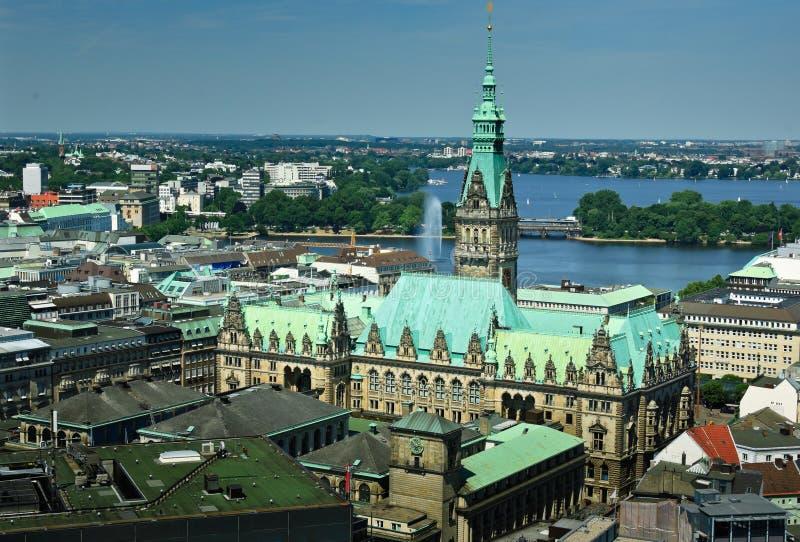 Hamburg Rathaus stock photos