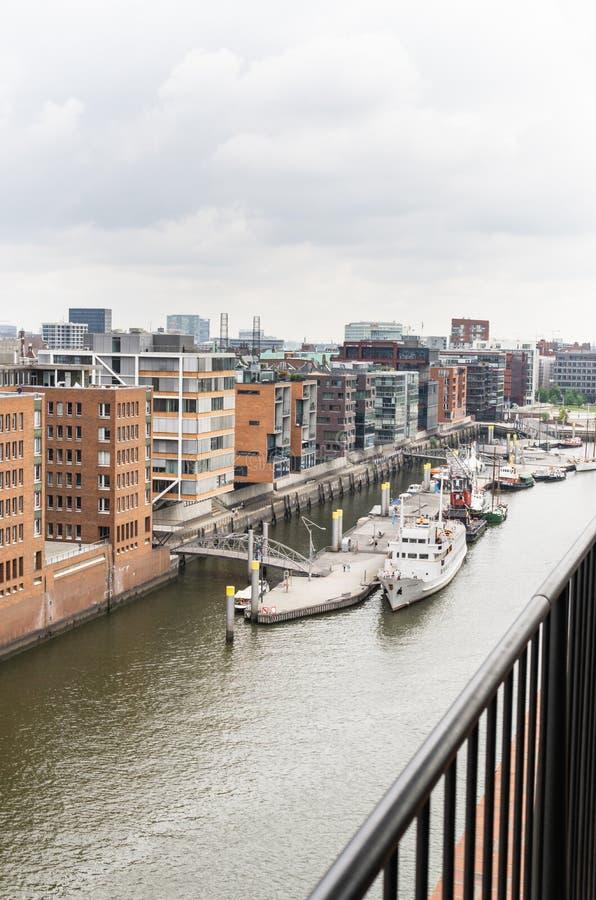 Hamburg - schronienia miasto fotografia royalty free