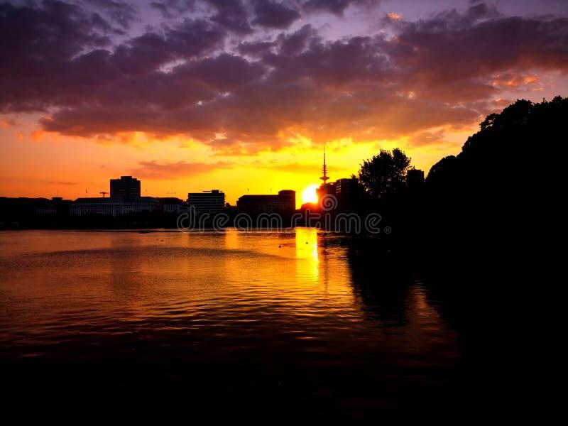 Hamburg Skyline stock images