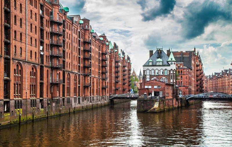 Hamburg Speicherstadt warehouse district, Germany royalty free stock photo