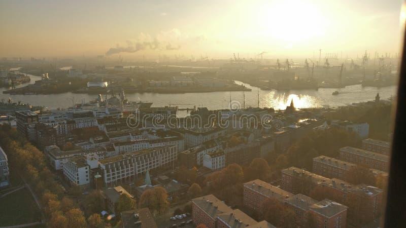 Hamburg stad royaltyfri fotografi