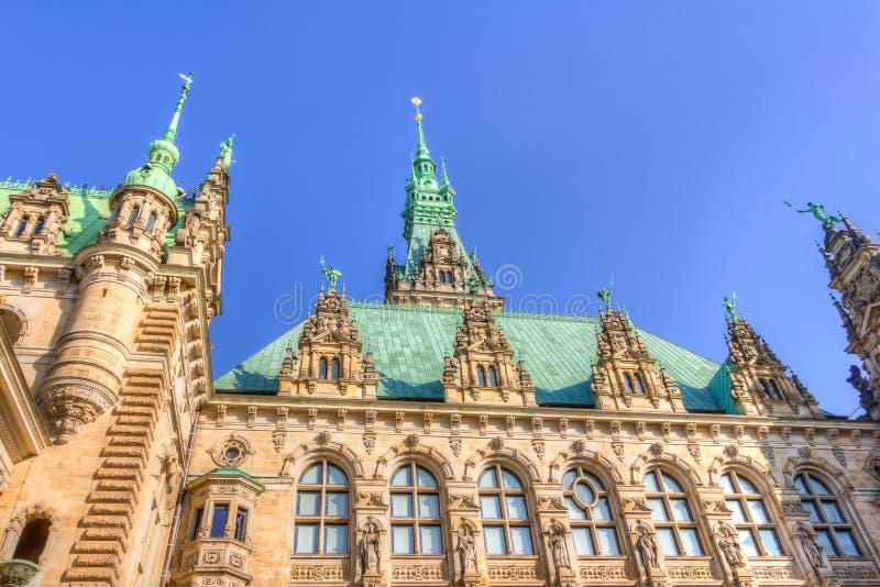 Hamburg stadshus royaltyfri foto
