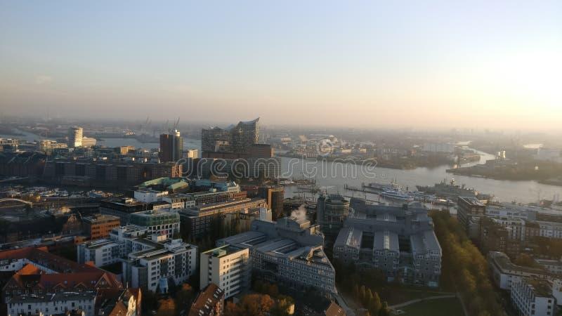 Hamburg-Stadt lizenzfreies stockbild