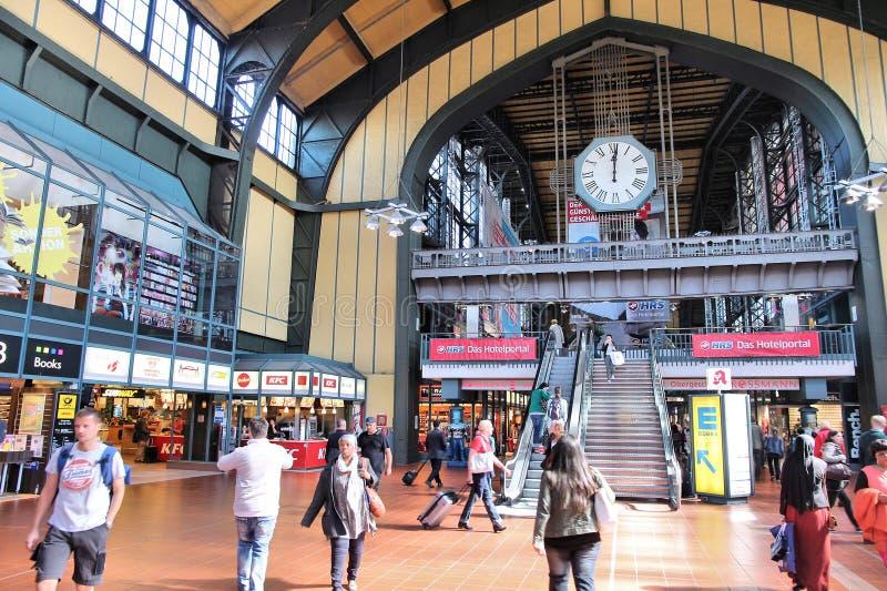 Hamburg station stock photo