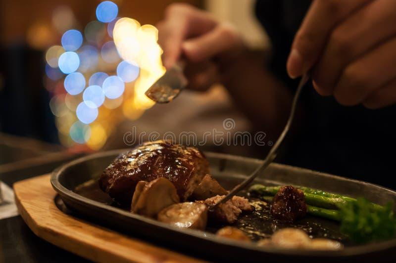 Hamburg-Steak stockbild