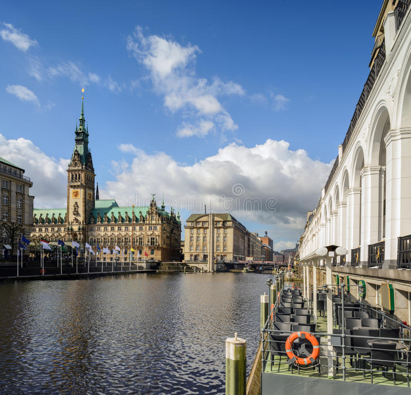 Download Hamburg Town Hall stock image. Image of arches, historic - 40707261