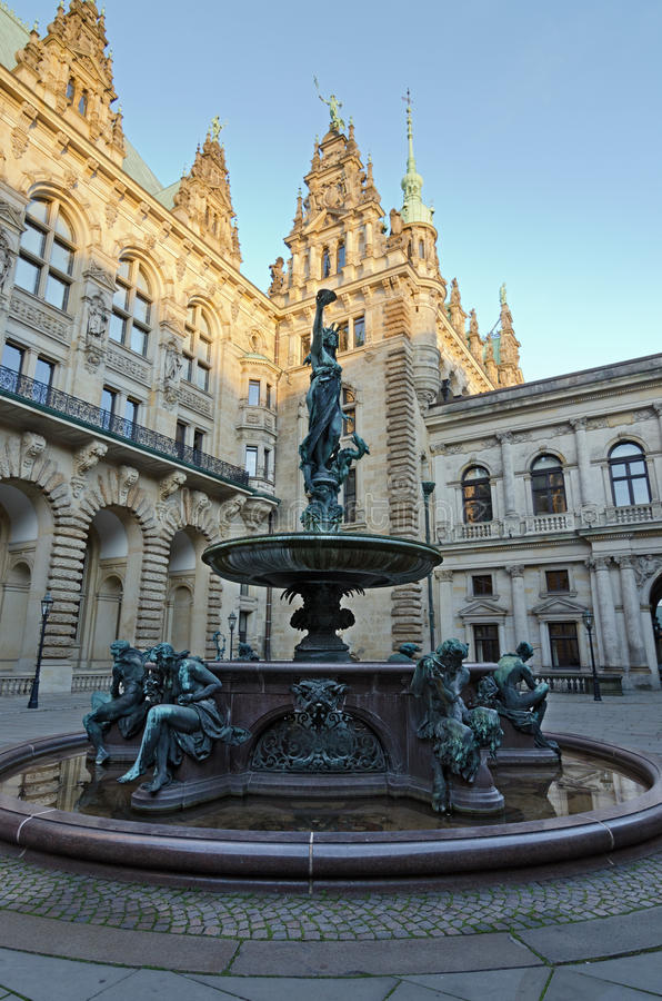 Download Hamburg, Town Hall stock image. Image of locations, tower - 34357691