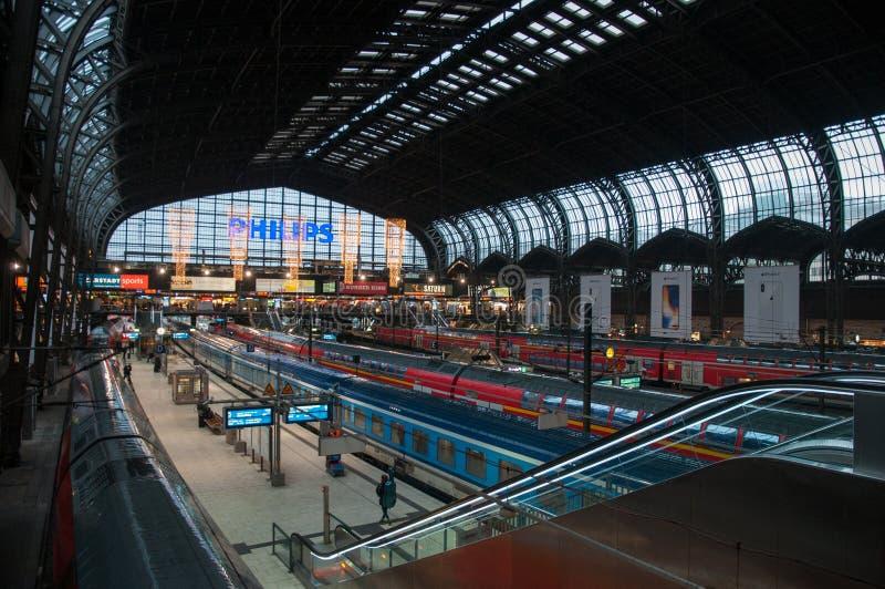 Hamburg train station stock photography