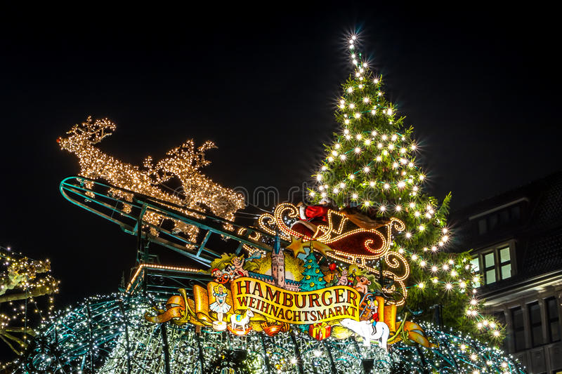 Hamburg Weihnachtsmarkt, Germany stock photography
