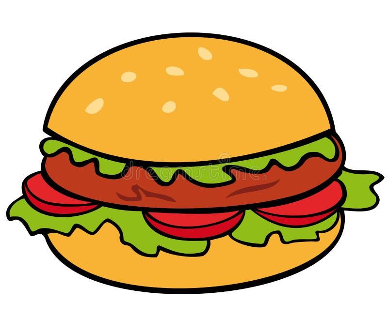 hamburgare stock illustrationer