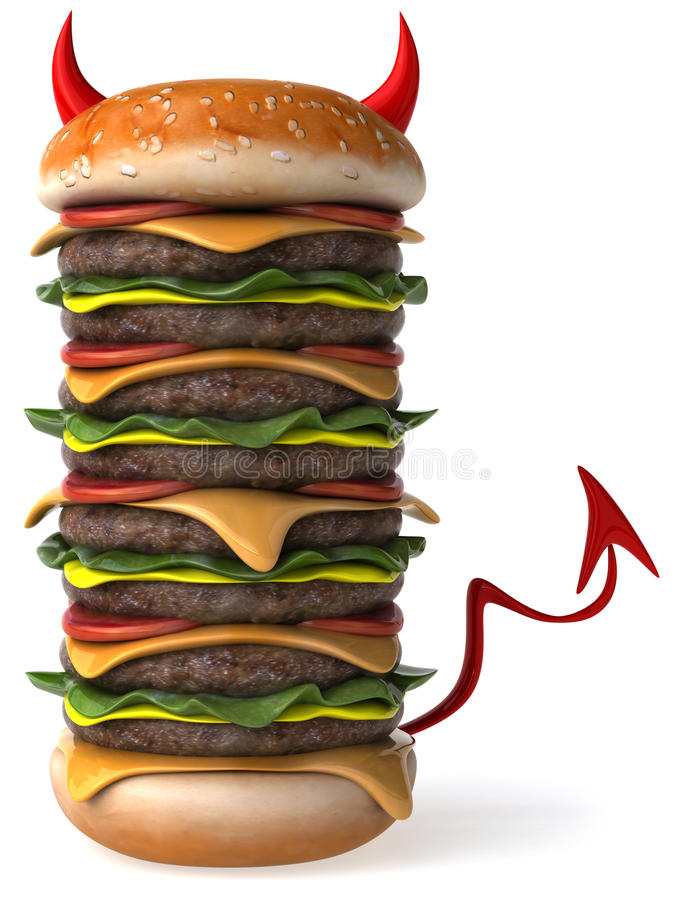 hamburgare stock illustrationer