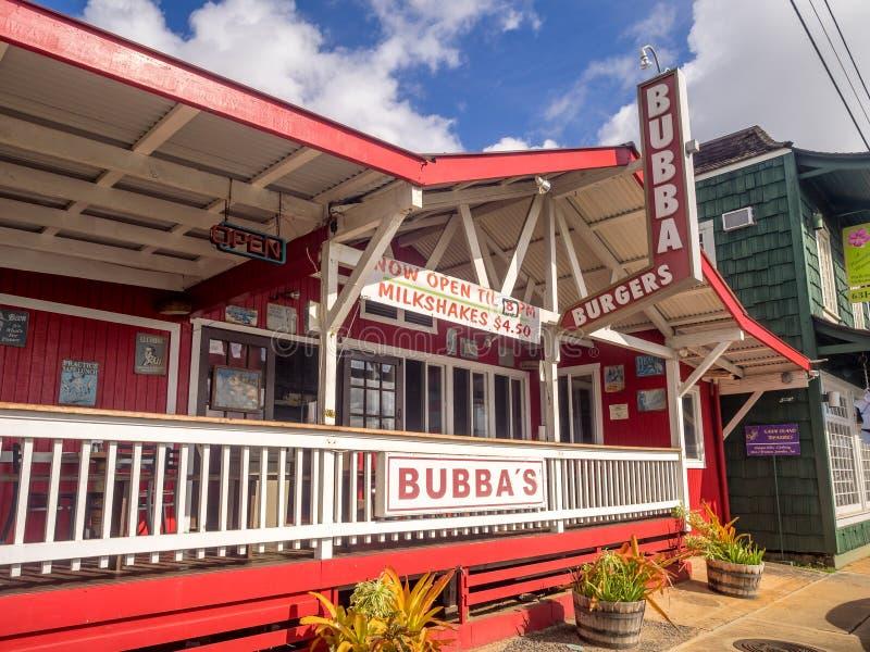 Hamburgare för Bubba ` s i Kapa ` en stad fotografering för bildbyråer