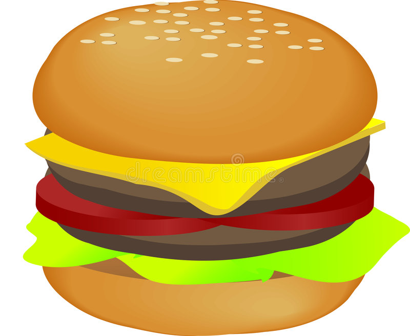 hamburgareillustration vektor illustrationer