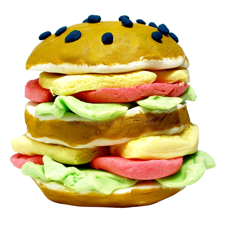 hamburgaren gjorde plasticine vektor illustrationer
