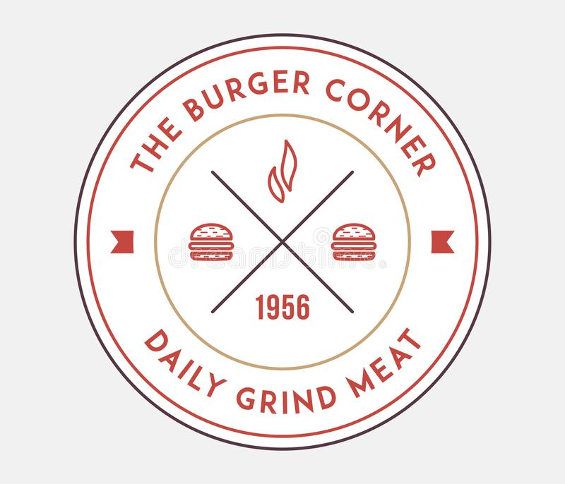 Hamburgerów kątów zgrzytnięcia dzienny mięso royalty ilustracja