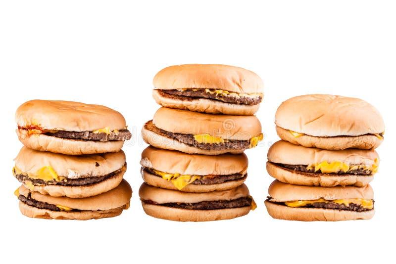 Hamburgerów stosy fotografia stock
